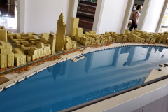 Waterfront architecture display at the Urban Planning Center