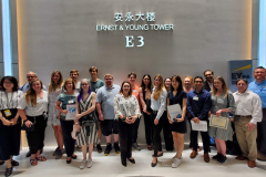 Students learned about consulting, acquisitions, and taxation at Ernst & Young (EY) in Beijing