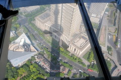 Glass Floor Observation Deck from the Oriental Pearl Tower in Shanghai
