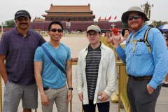 Sachindra Gangupantula, John Capua, Shawn Beinlich, and Dr. Robert Allen King at Tianamen Square