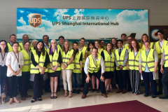 Students learned about global logistics and supply chain at UPS in Shanghai