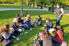 Students enjoying down time at Kongens Have (Kings Garden) in Copenhagen.