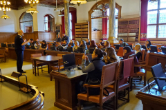 Presentation at Copenhagen City Hall where students learned about the local political systems and the similarities/difference between Danish and U.S. politics