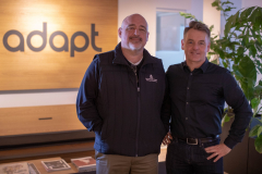 Dr. Jeffry Babb with Kresten Wiingaard, CEO of Adapt A/S, an international digital agency - Since 2012, Adapt A/S has been visited by three different study abroad groups from WT.
