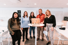 Student teams participated in a small-space living exercise at IKEA